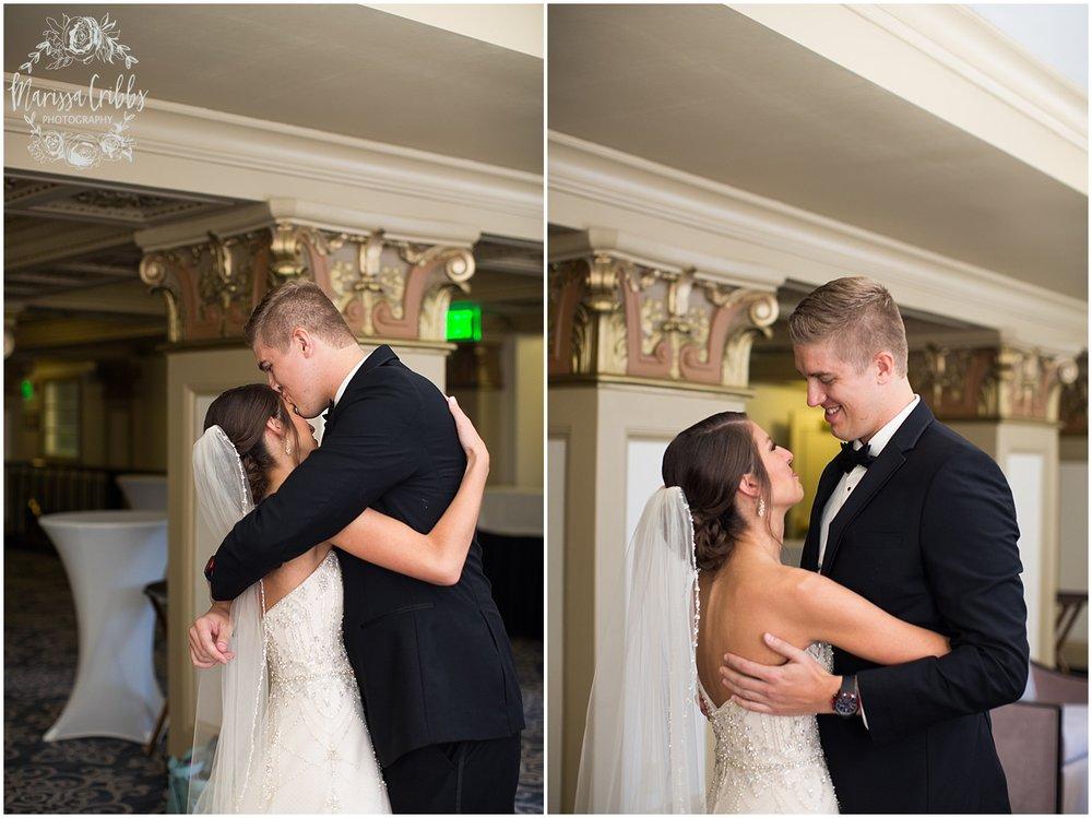 The President Hilton Wedding | KC Wedding Photographers | Emily & Dustin | Marissa Cribbs Photography_0665.jpg