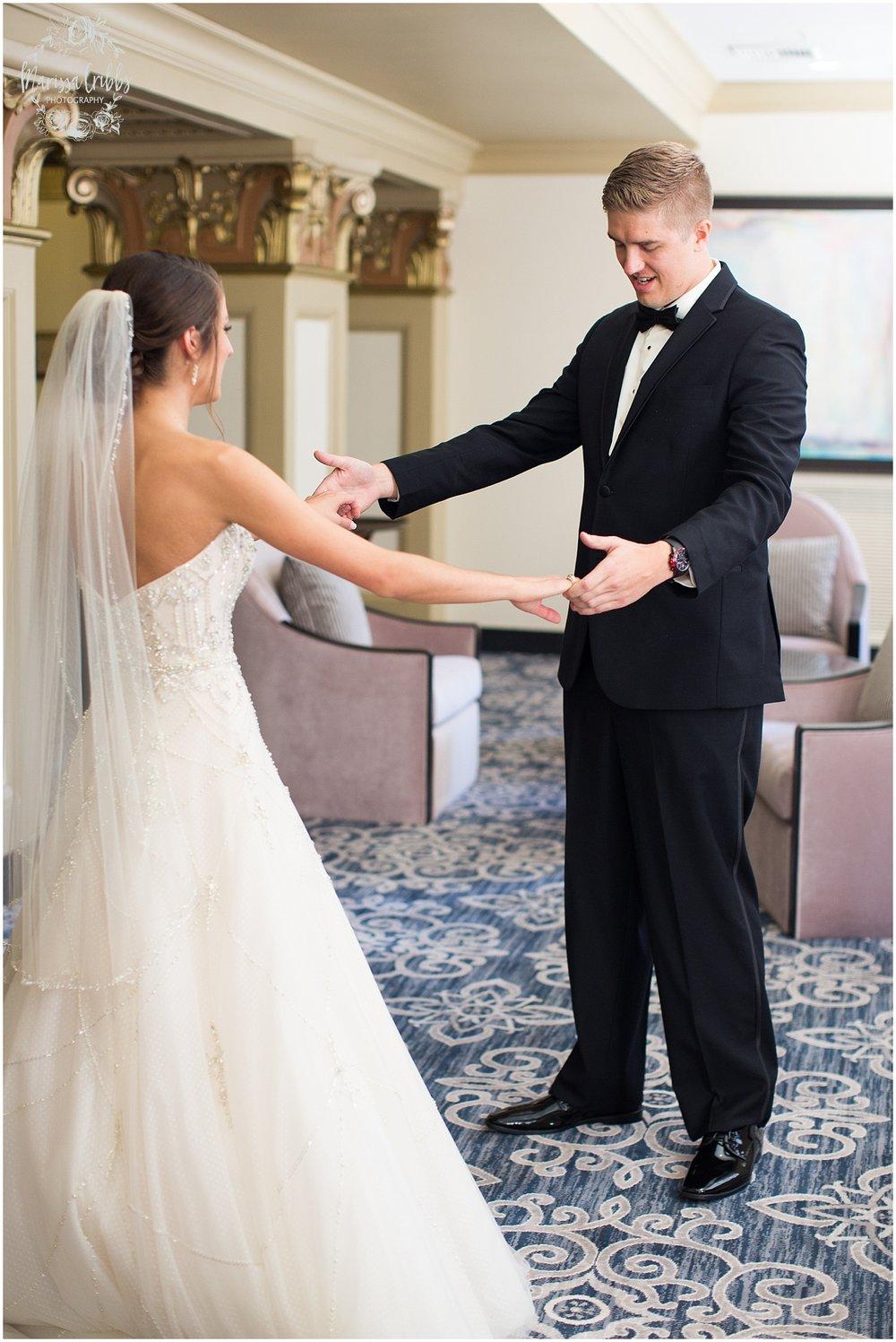 The President Hilton Wedding | KC Wedding Photographers | Emily & Dustin | Marissa Cribbs Photography_0666.jpg