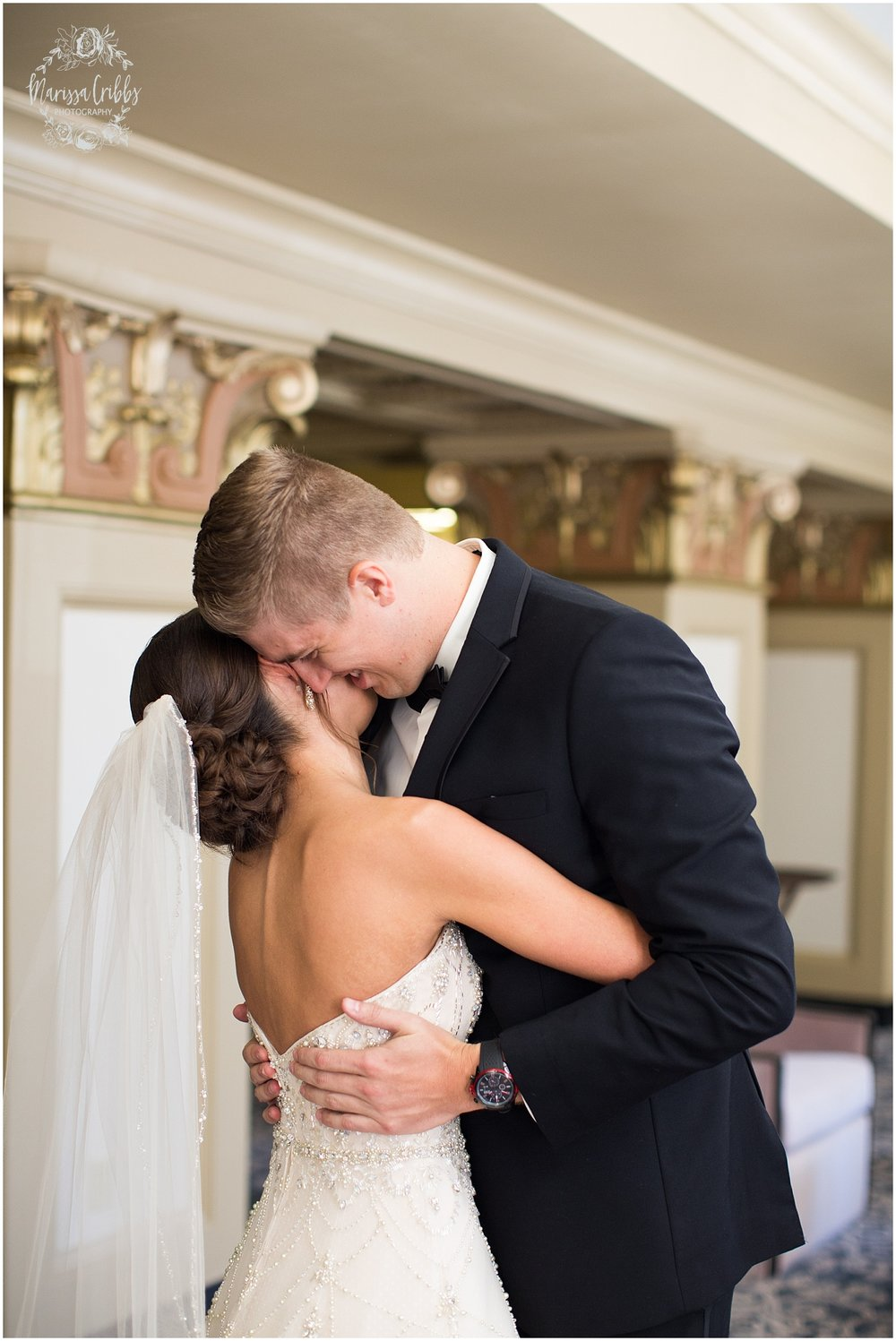 The President Hilton Wedding | KC Wedding Photographers | Emily & Dustin | Marissa Cribbs Photography_0668.jpg