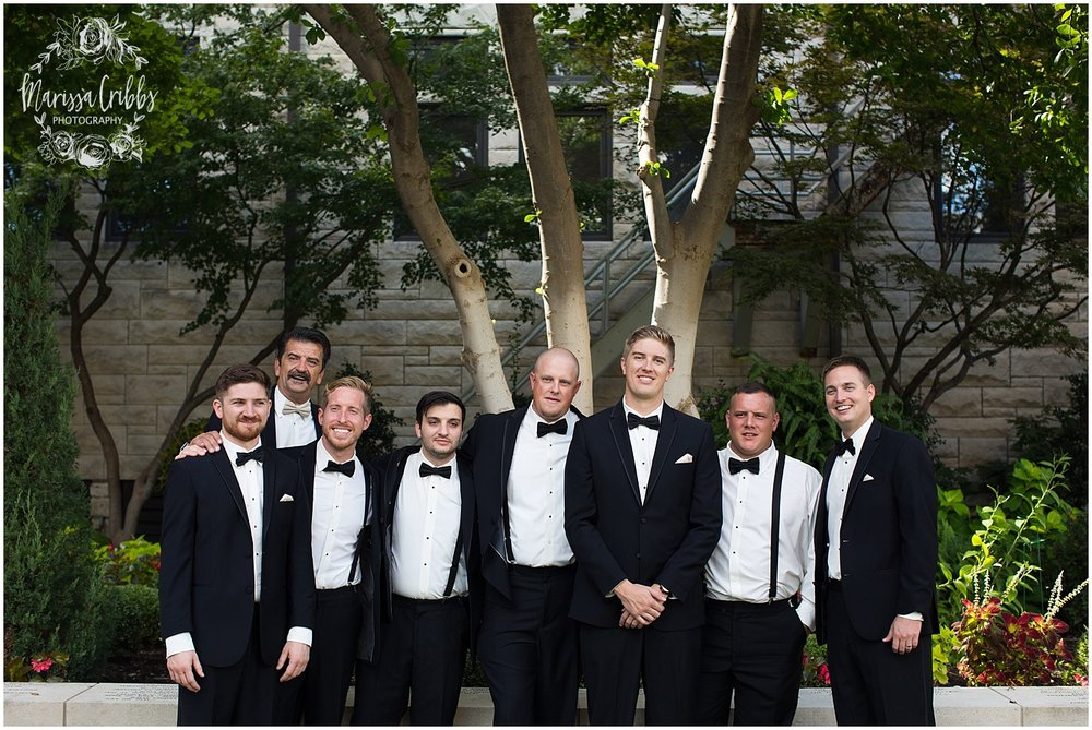 The President Hilton Wedding | KC Wedding Photographers | Emily & Dustin | Marissa Cribbs Photography_0711.jpg