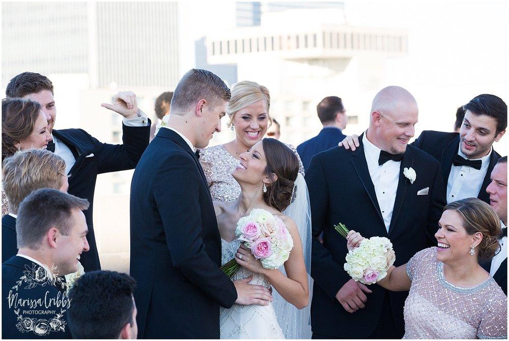 The President Hilton Wedding | KC Wedding Photographers | Emily & Dustin | Marissa Cribbs Photography_0741.jpg