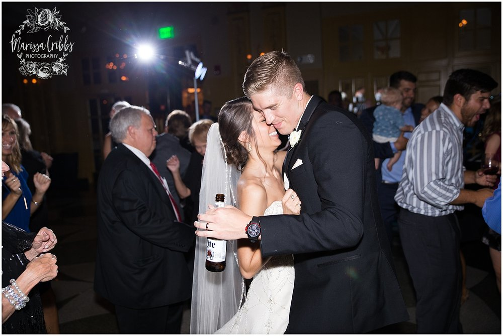 The President Hilton Wedding | KC Wedding Photographers | Emily & Dustin | Marissa Cribbs Photography_0796.jpg