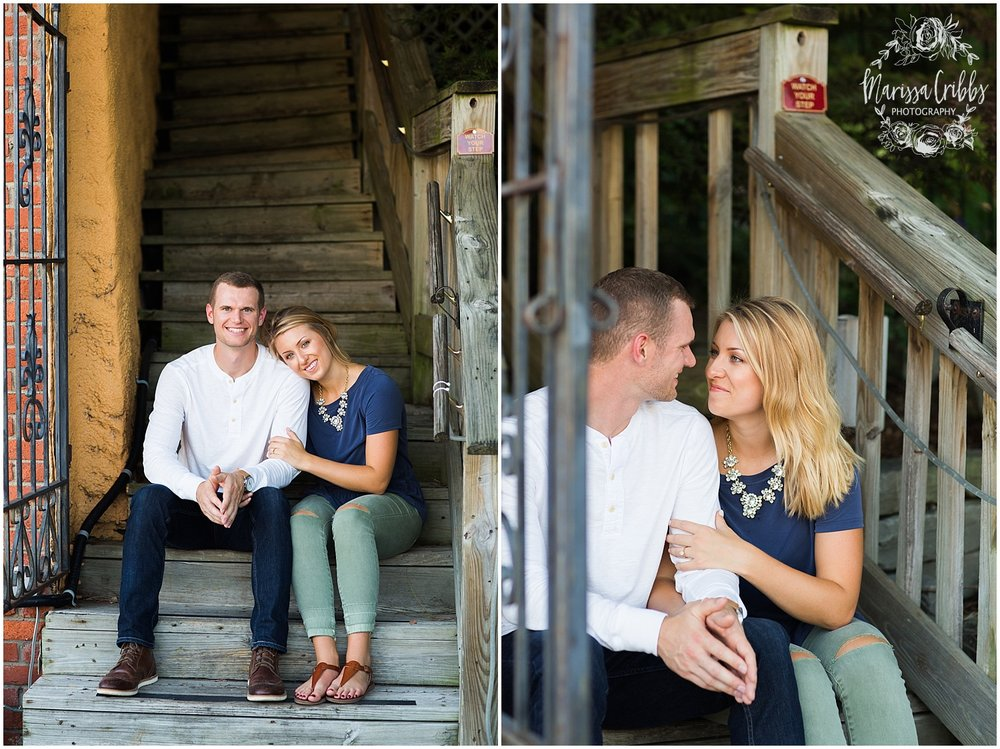 Lindsey & Corey Engagement | KC Engagement Photographer | Marissa Cribbs Photography | West Bottoms | 12th Street Bridge | KC Skyline | Parkville, MO_0814.jpg