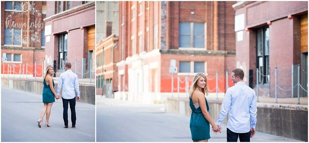 Lindsey & Corey Engagement | KC Engagement Photographer | Marissa Cribbs Photography | West Bottoms | 12th Street Bridge | KC Skyline | Parkville, MO_0840.jpg