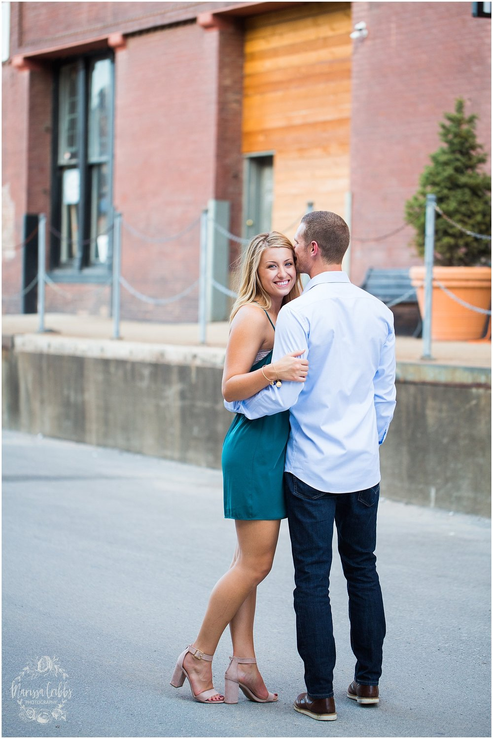 Lindsey & Corey Engagement | KC Engagement Photographer | Marissa Cribbs Photography | West Bottoms | 12th Street Bridge | KC Skyline | Parkville, MO_0842.jpg
