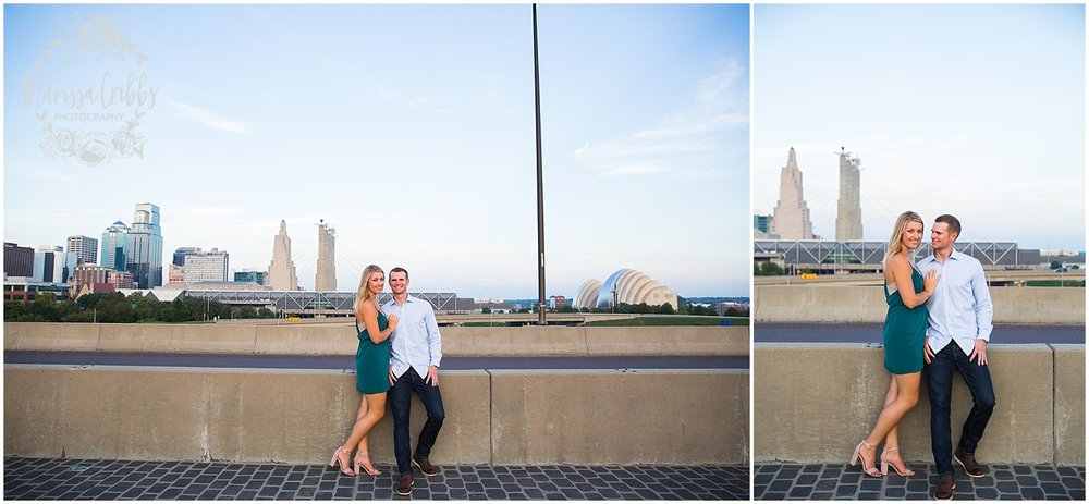 Lindsey & Corey Engagement | KC Engagement Photographer | Marissa Cribbs Photography | West Bottoms | 12th Street Bridge | KC Skyline | Parkville, MO_0847.jpg