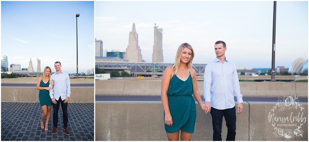 Lindsey & Corey Engagement | KC Engagement Photographer | Marissa Cribbs Photography | West Bottoms | 12th Street Bridge | KC Skyline | Parkville, MO_0849.jpg