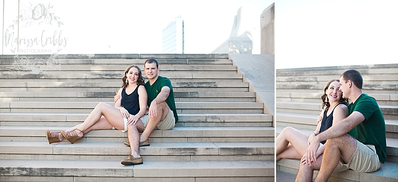 Hannah & Jeff Engagement Pictures | River Market KC | Liberty Memorial Engagement Pictures | Loose Park Engagement | Marissa Cribbs Photography_5027.jpg