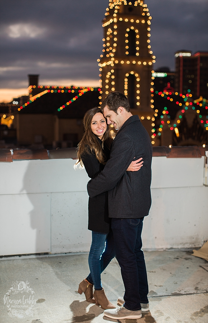 Kelsey & Brendan Engaged | Kansas City Plaza Lights | KC Plaza Christmas Engagement Photos | The Madrid Theatre | Marissa Cribbs Photography_5891.jpg