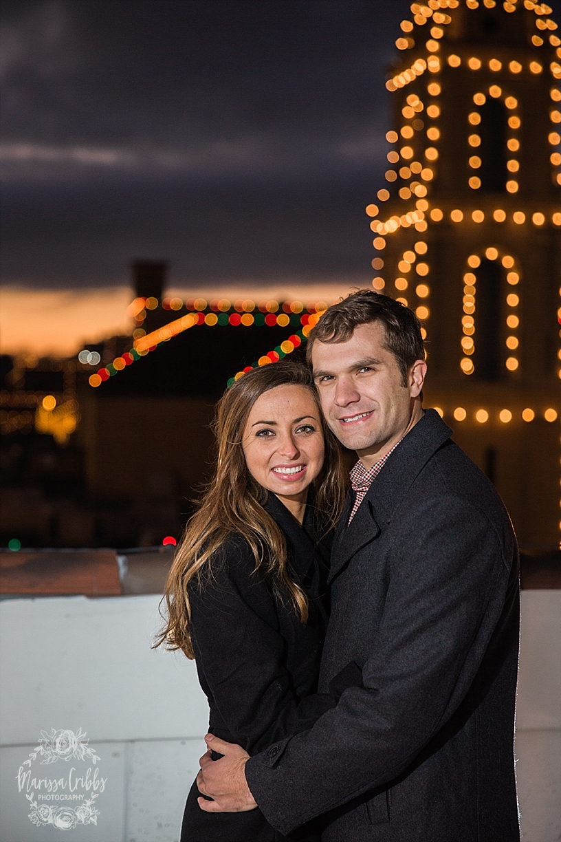 Kelsey & Brendan Engaged | Kansas City Plaza Lights | KC Plaza Christmas Engagement Photos | The Madrid Theatre | Marissa Cribbs Photography_5897.jpg