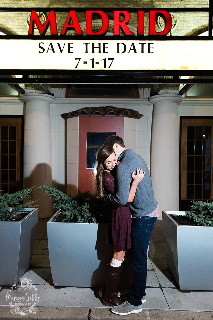 Kelsey & Brendan Engaged | Kansas City Plaza Lights | KC Plaza Christmas Engagement Photos | The Madrid Theatre | Marissa Cribbs Photography_5902.jpg