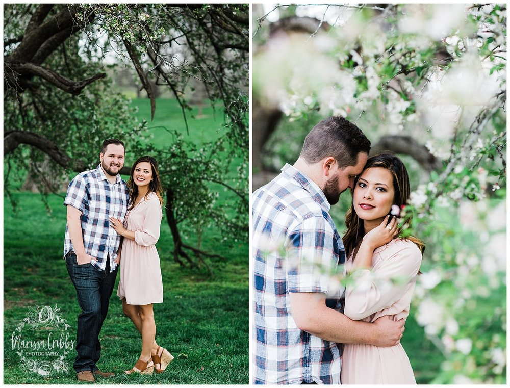 Leah & Michael Engagement | Loose Park Engagement Photos | KC Photographers | Marissa Cribbs Photography | KC Wedding Photographers_0804.jpg
