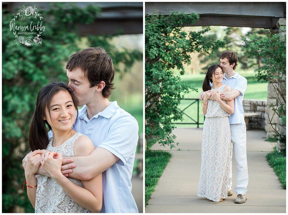 Jenny & Jonathan Engagement | Loose Park Engagement Photos | KC Photographers | Marissa Cribbs Photography | KC Wedding Photographers_0821.jpg