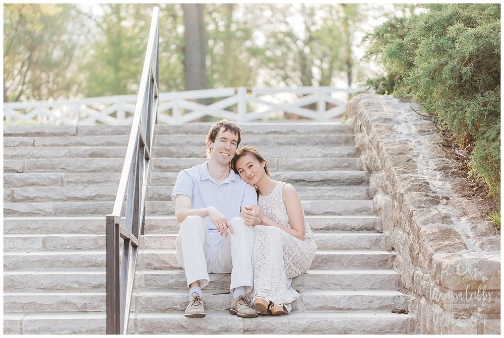 Jenny & Jonathan Engagement | Loose Park Engagement Photos | KC Photographers | Marissa Cribbs Photography | KC Wedding Photographers_0824.jpg