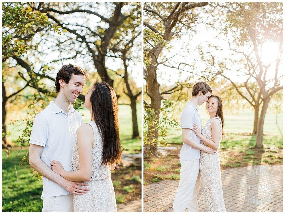 Jenny & Jonathan Engagement | Loose Park Engagement Photos | KC Photographers | Marissa Cribbs Photography | KC Wedding Photographers_0831.jpg