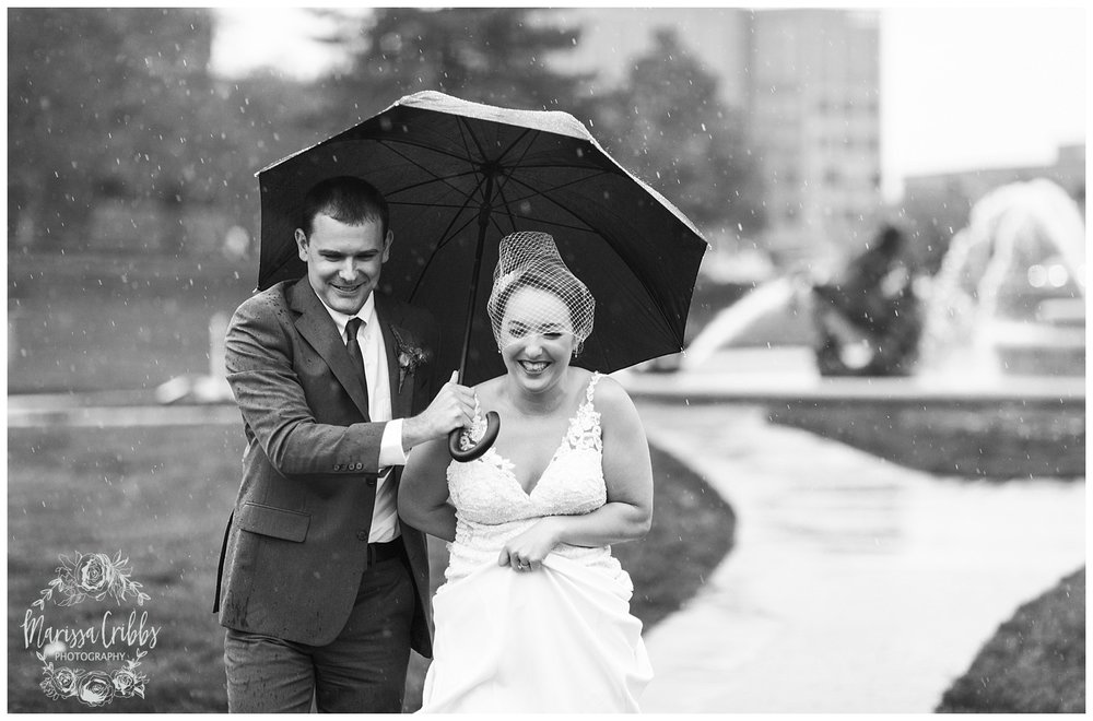 Bride & The Bauer Wedding | Hannah & Jeff | KC Wedding Photographers | Rainy Wedding Photos KC | Marissa Cribbs Photography_1092.jpg
