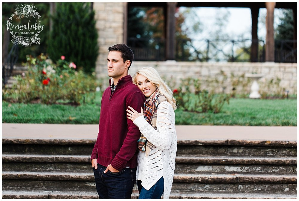 CLOE & GABE LIBERTY MEMORIAL ENGAGEMENT | MARISSA CRIBBS PHOTOGRAPHY | LOOSE PARK ENGAGEMENT_3446.jpg