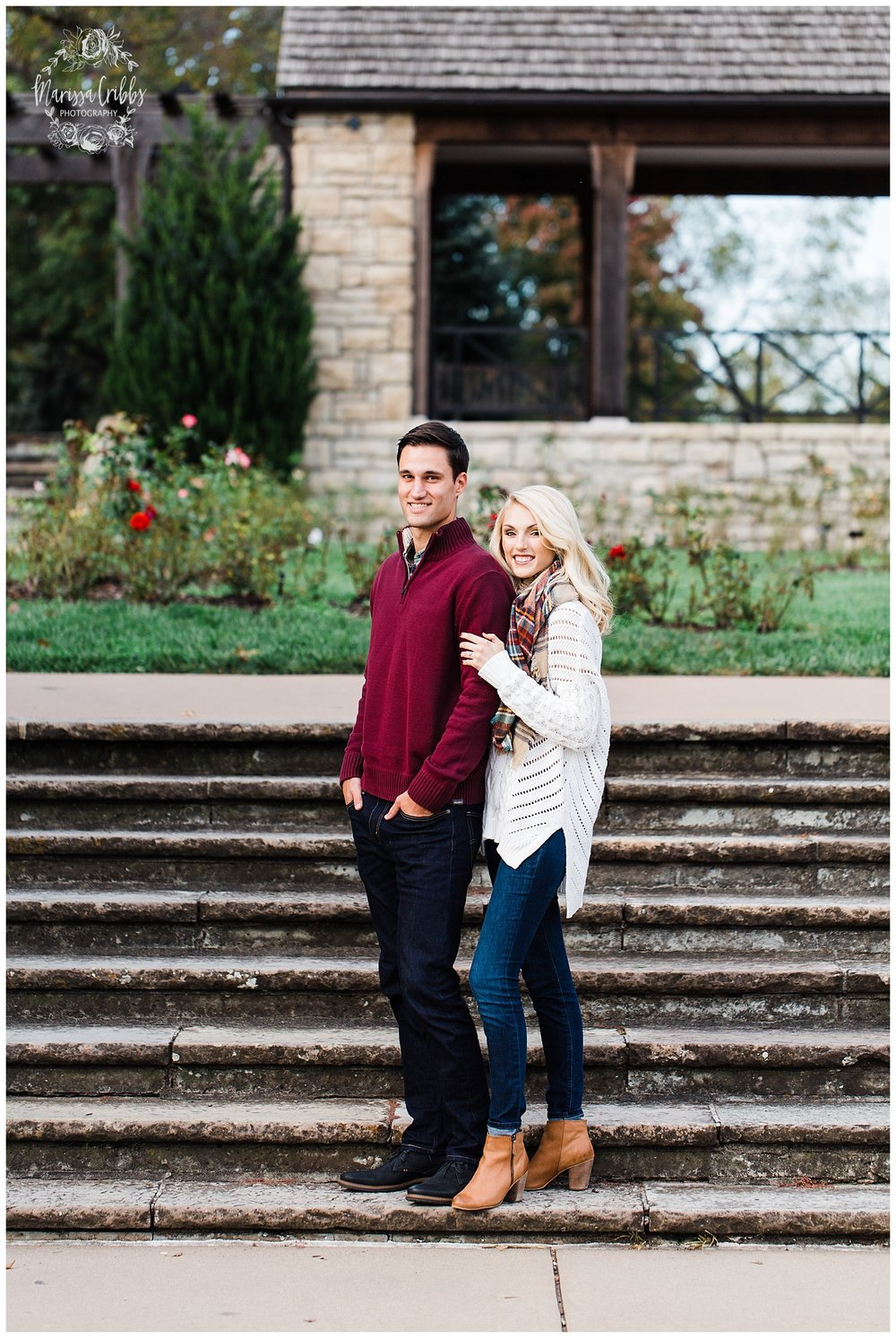 CLOE & GABE LIBERTY MEMORIAL ENGAGEMENT | MARISSA CRIBBS PHOTOGRAPHY | LOOSE PARK ENGAGEMENT_3445.jpg