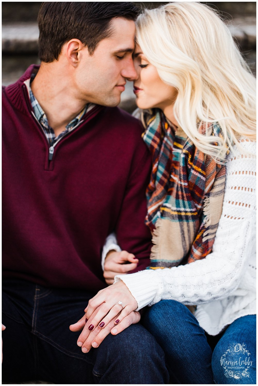 CLOE & GABE LIBERTY MEMORIAL ENGAGEMENT | MARISSA CRIBBS PHOTOGRAPHY | LOOSE PARK ENGAGEMENT_3448.jpg