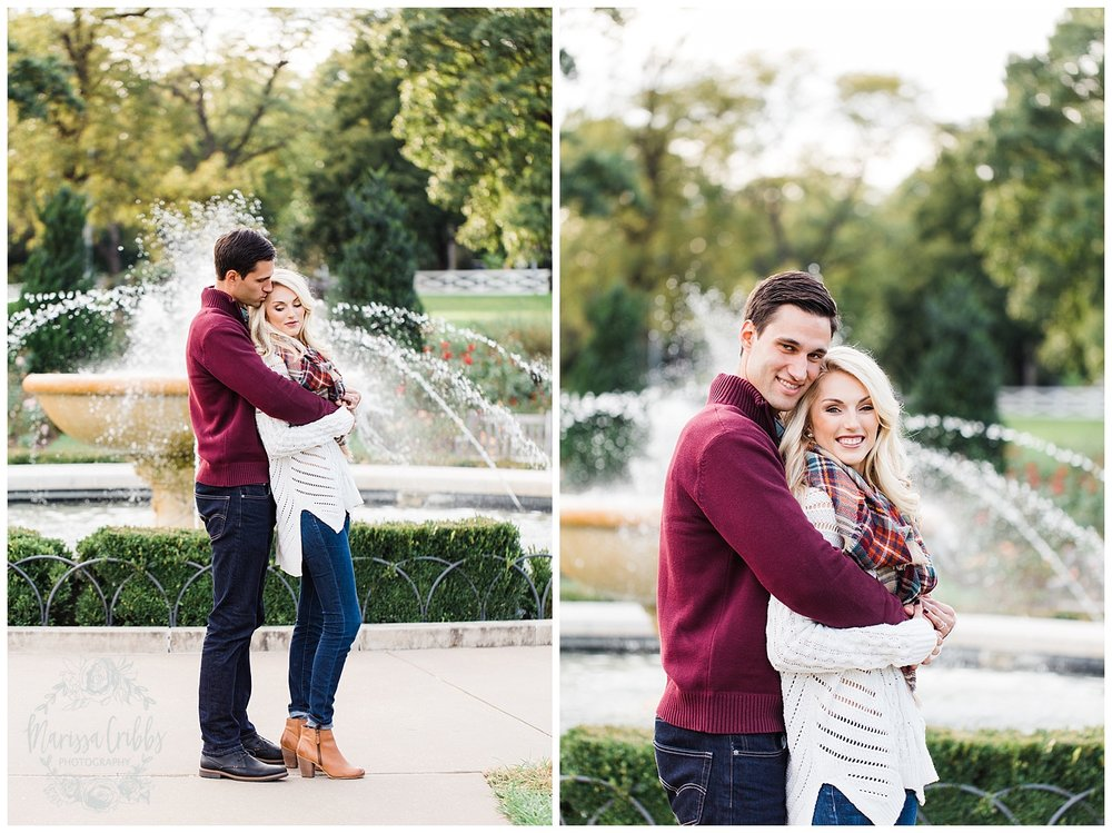 CLOE & GABE LIBERTY MEMORIAL ENGAGEMENT | MARISSA CRIBBS PHOTOGRAPHY | LOOSE PARK ENGAGEMENT_3454.jpg