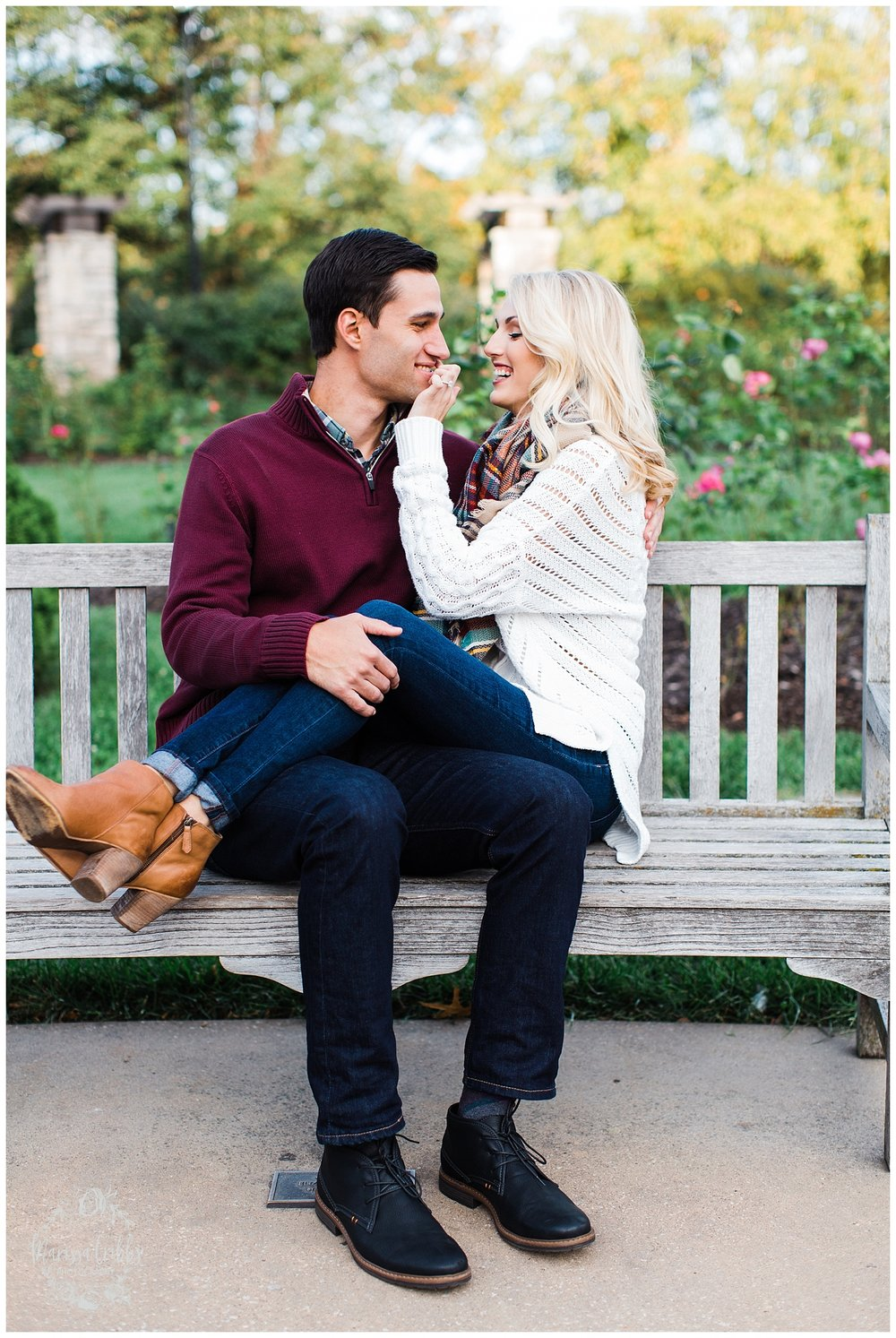 CLOE & GABE LIBERTY MEMORIAL ENGAGEMENT | MARISSA CRIBBS PHOTOGRAPHY | LOOSE PARK ENGAGEMENT_3457.jpg