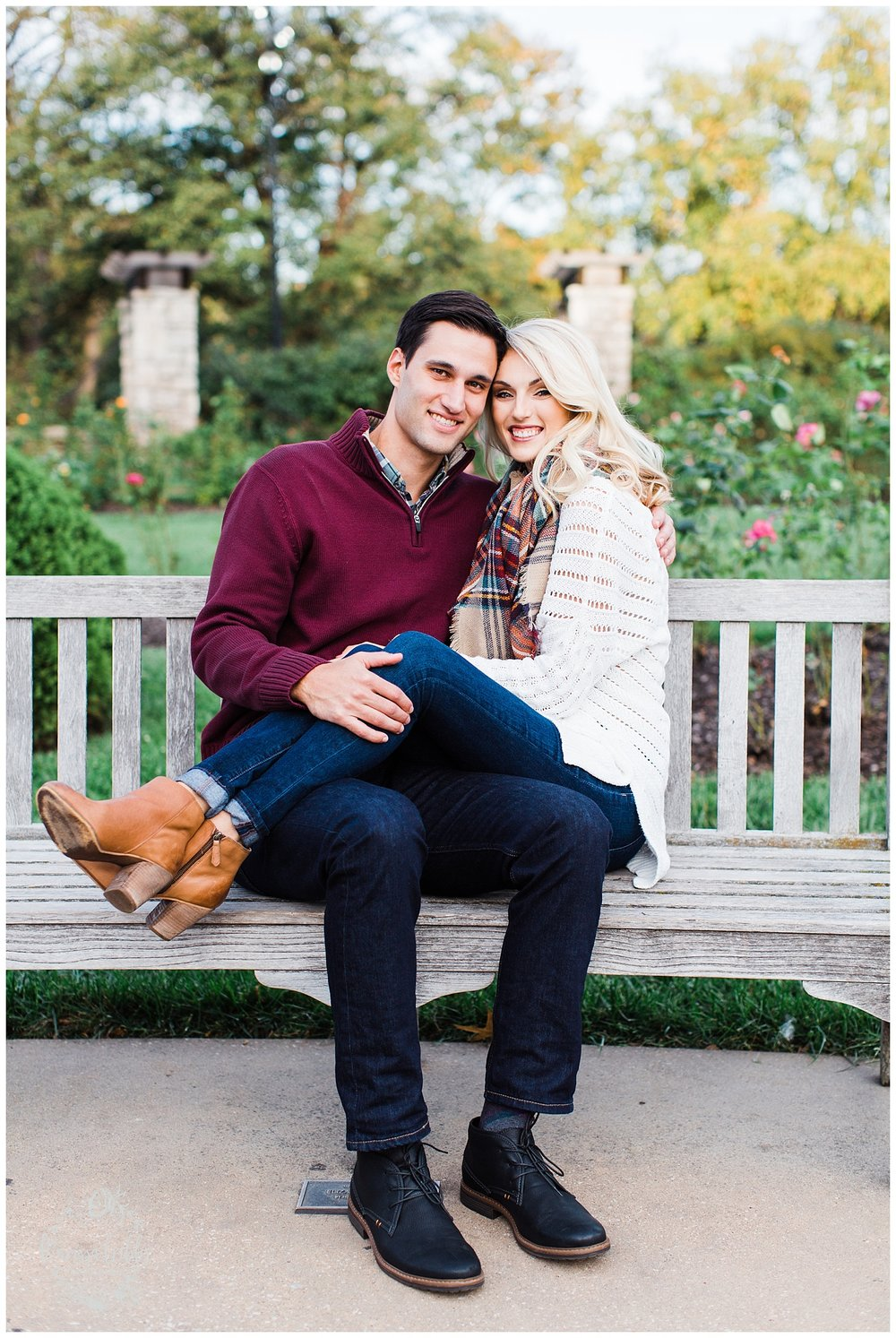 CLOE & GABE LIBERTY MEMORIAL ENGAGEMENT | MARISSA CRIBBS PHOTOGRAPHY | LOOSE PARK ENGAGEMENT_3458.jpg