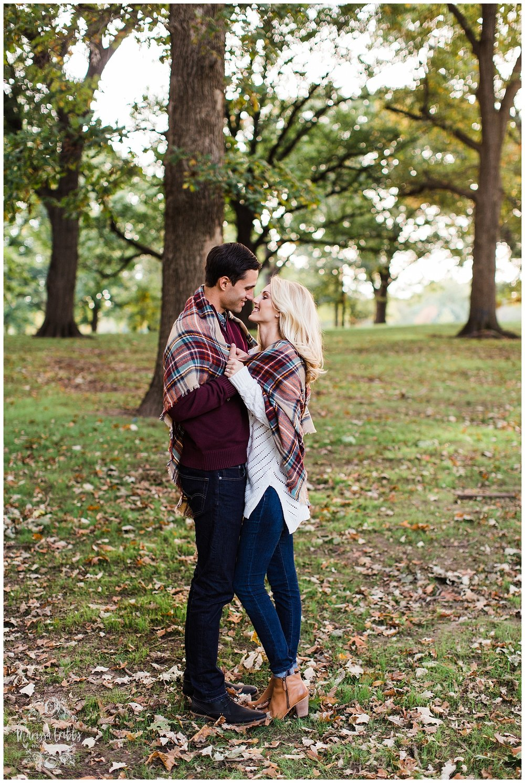 CLOE & GABE LIBERTY MEMORIAL ENGAGEMENT | MARISSA CRIBBS PHOTOGRAPHY | LOOSE PARK ENGAGEMENT_3459.jpg