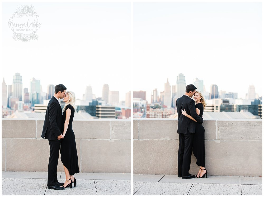 CLOE & GABE LIBERTY MEMORIAL ENGAGEMENT | MARISSA CRIBBS PHOTOGRAPHY | LOOSE PARK ENGAGEMENT_3465.jpg