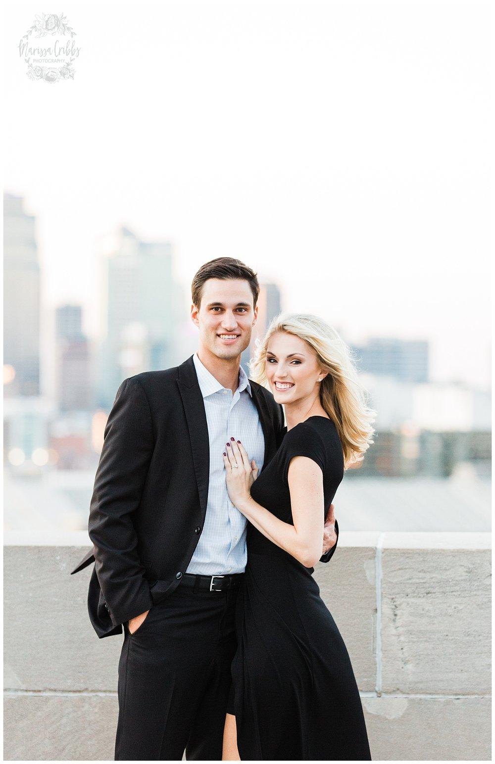 CLOE & GABE LIBERTY MEMORIAL ENGAGEMENT | MARISSA CRIBBS PHOTOGRAPHY | LOOSE PARK ENGAGEMENT_3483.jpg