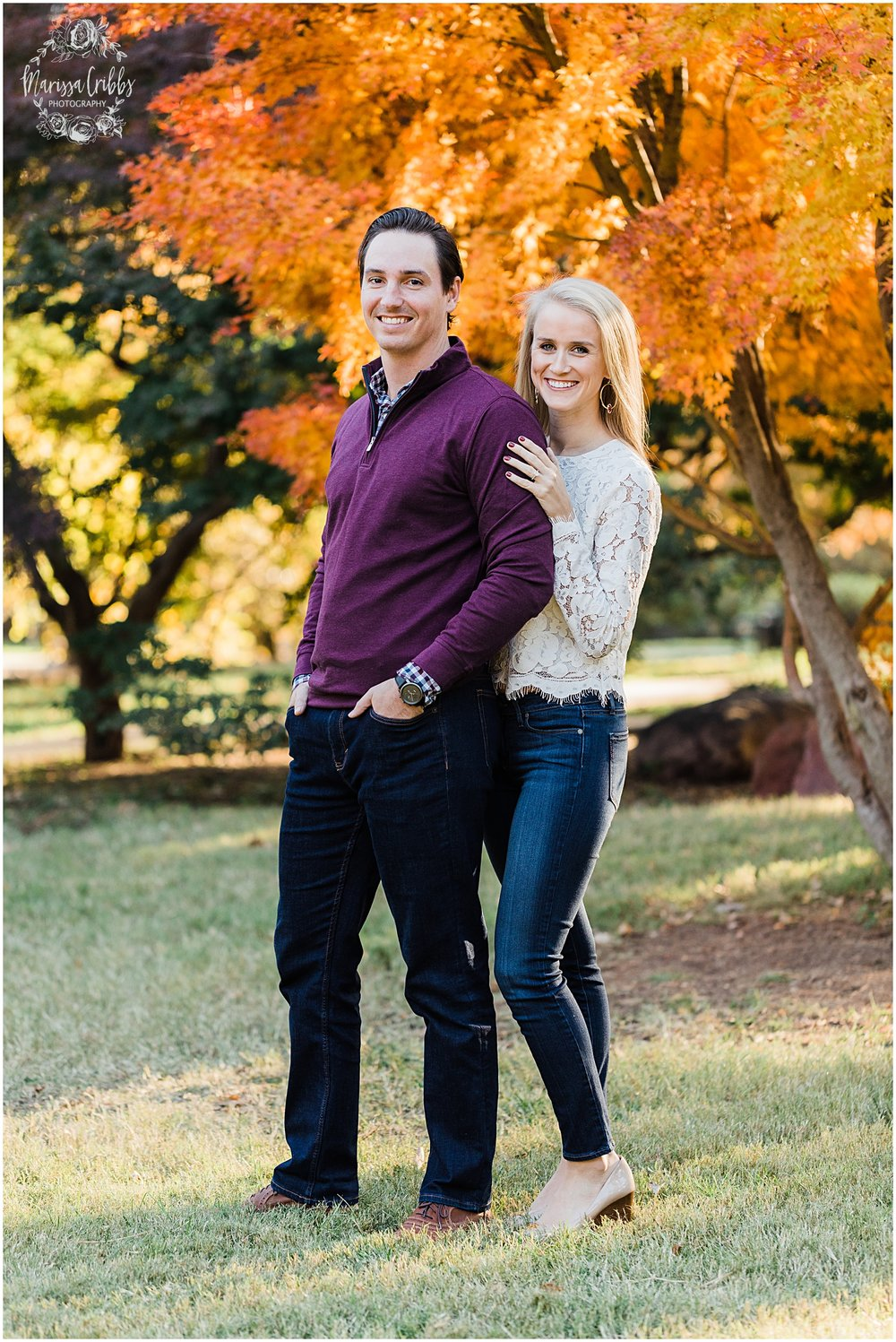HALEY & CHASE ENGAGED LOOSE PARK & NELSON ATKINS | FALL ENGAGEMENT PHOTOS | MARISSA CRIBBS PHOTOGRAPHY_6846.jpg