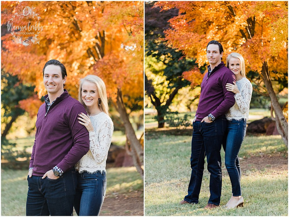 HALEY & CHASE ENGAGED LOOSE PARK & NELSON ATKINS | FALL ENGAGEMENT PHOTOS | MARISSA CRIBBS PHOTOGRAPHY_6847.jpg