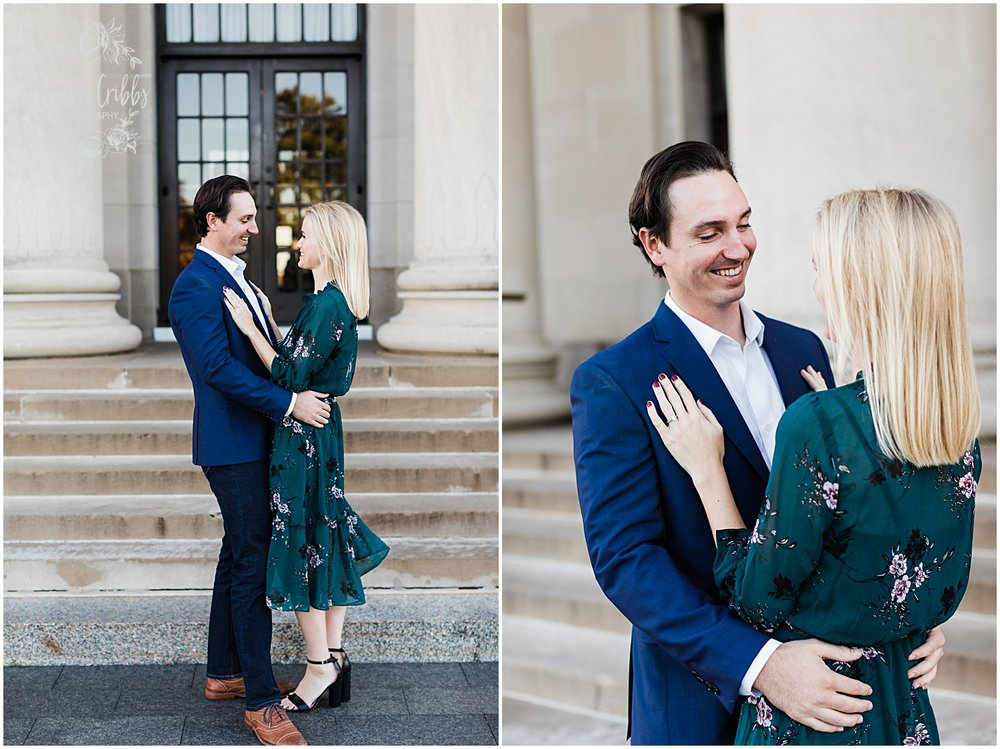 HALEY & CHASE ENGAGED LOOSE PARK & NELSON ATKINS | FALL ENGAGEMENT PHOTOS | MARISSA CRIBBS PHOTOGRAPHY_6852.jpg