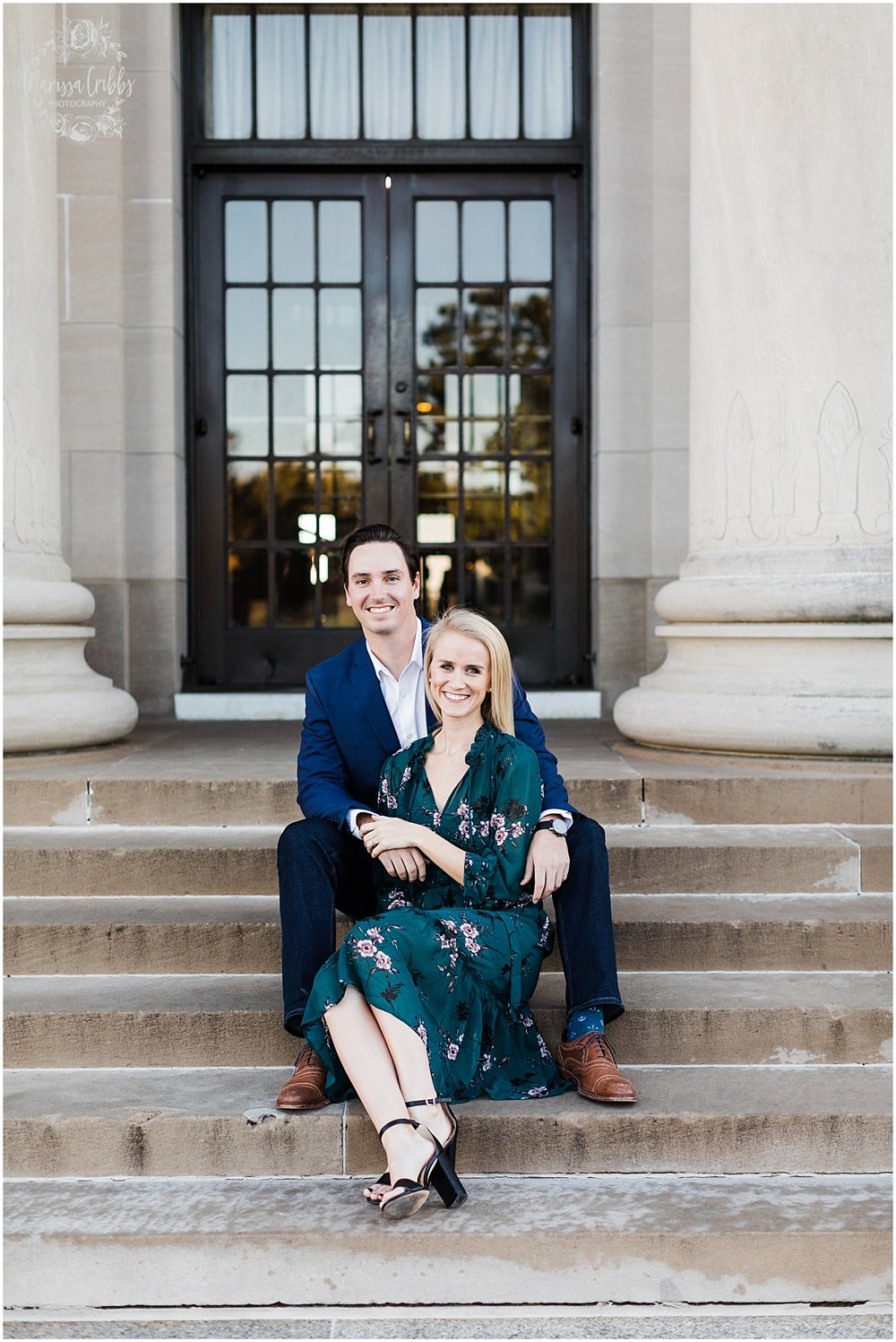 HALEY & CHASE ENGAGED LOOSE PARK & NELSON ATKINS | FALL ENGAGEMENT PHOTOS | MARISSA CRIBBS PHOTOGRAPHY_6855.jpg