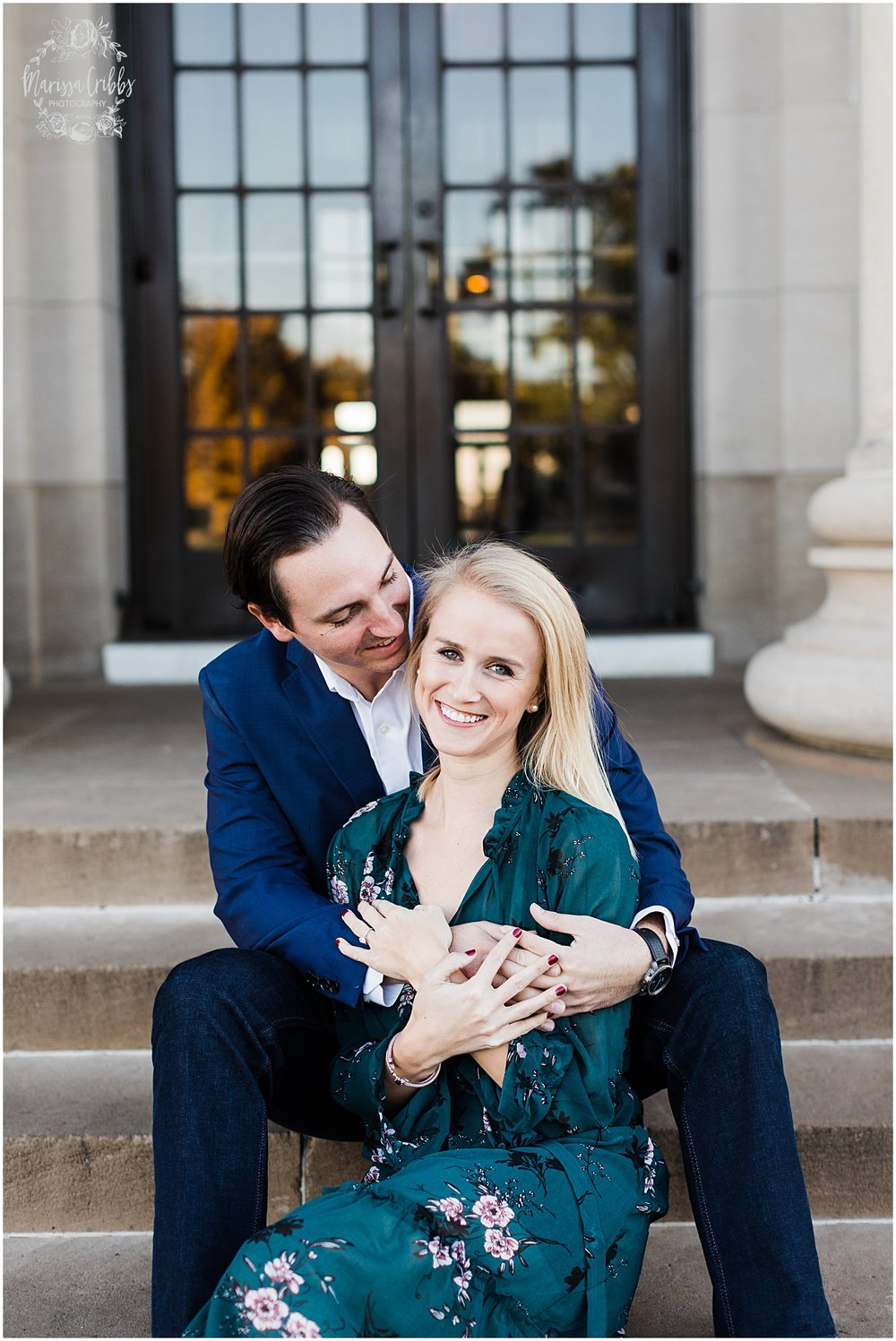 HALEY & CHASE ENGAGED LOOSE PARK & NELSON ATKINS | FALL ENGAGEMENT PHOTOS | MARISSA CRIBBS PHOTOGRAPHY_6856.jpg