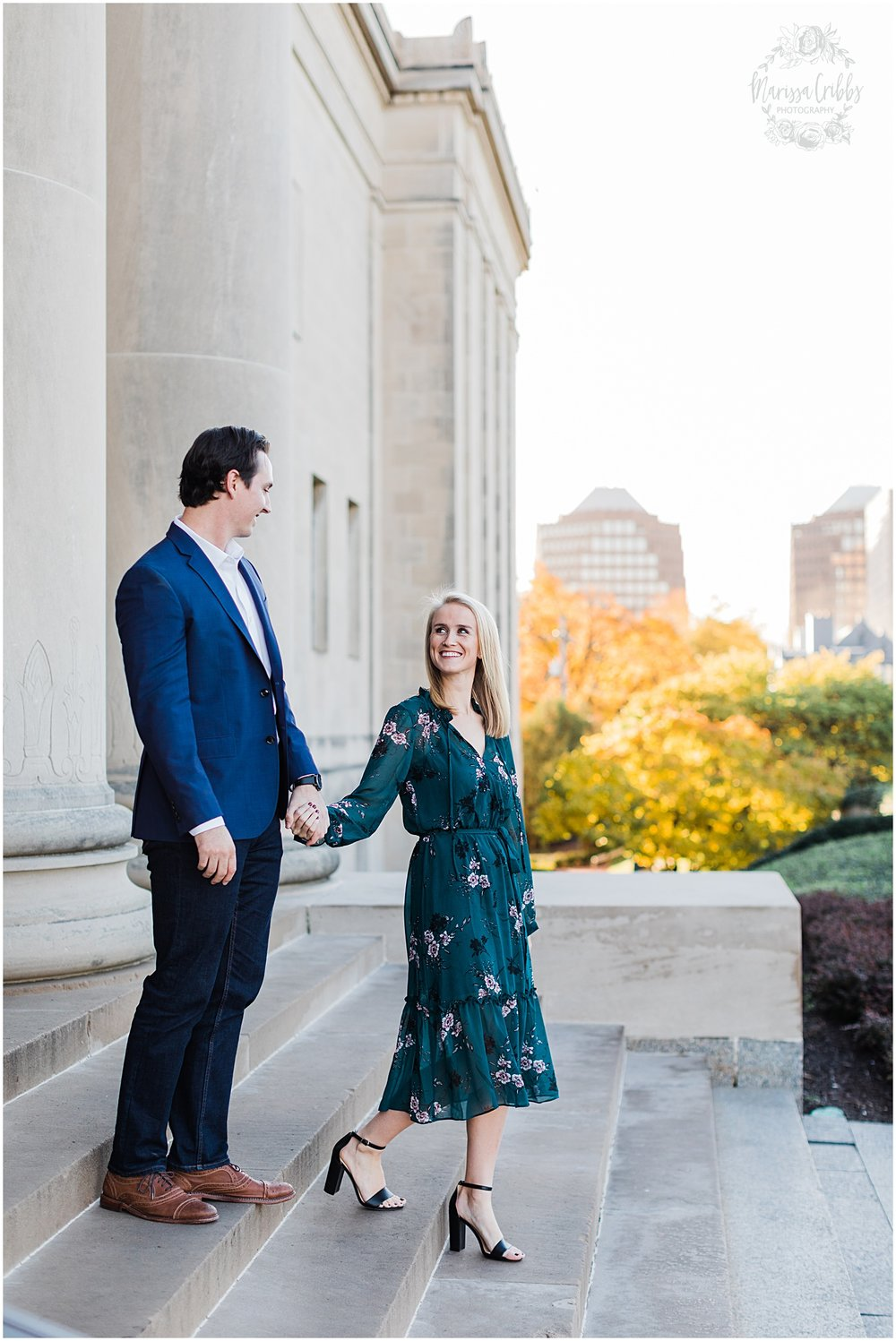 HALEY & CHASE ENGAGED LOOSE PARK & NELSON ATKINS | FALL ENGAGEMENT PHOTOS | MARISSA CRIBBS PHOTOGRAPHY_6859.jpg