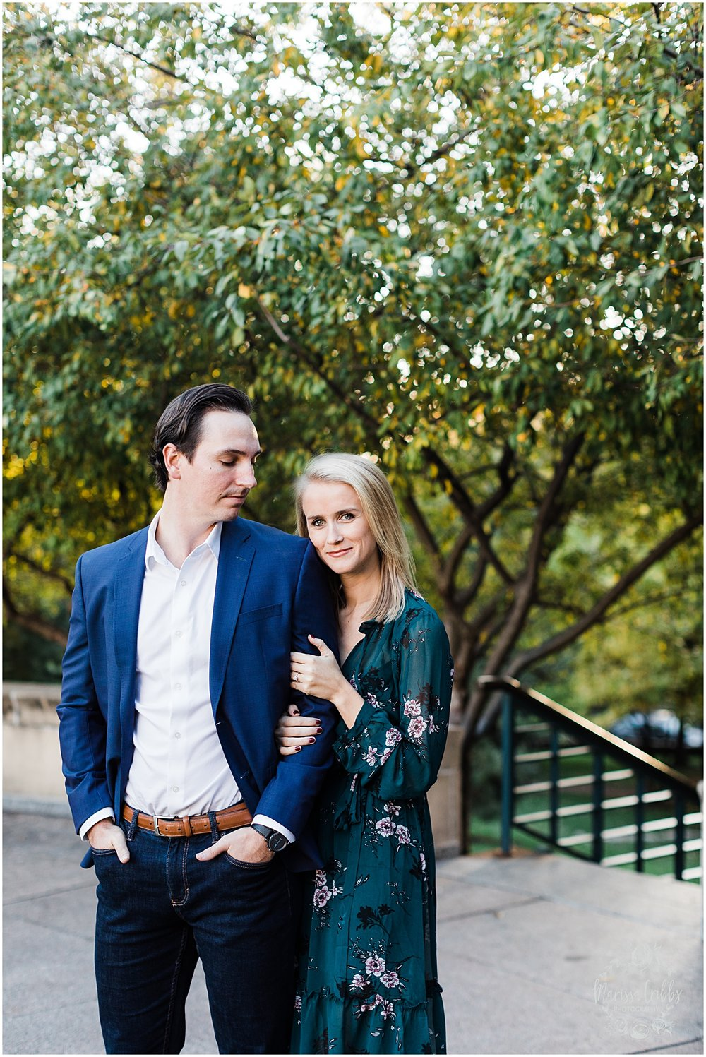 HALEY & CHASE ENGAGED LOOSE PARK & NELSON ATKINS | FALL ENGAGEMENT PHOTOS | MARISSA CRIBBS PHOTOGRAPHY_6864.jpg
