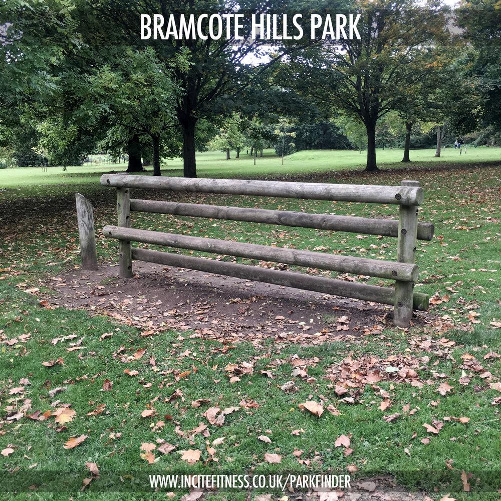 Bramcote Hills 05 log climb.jpg