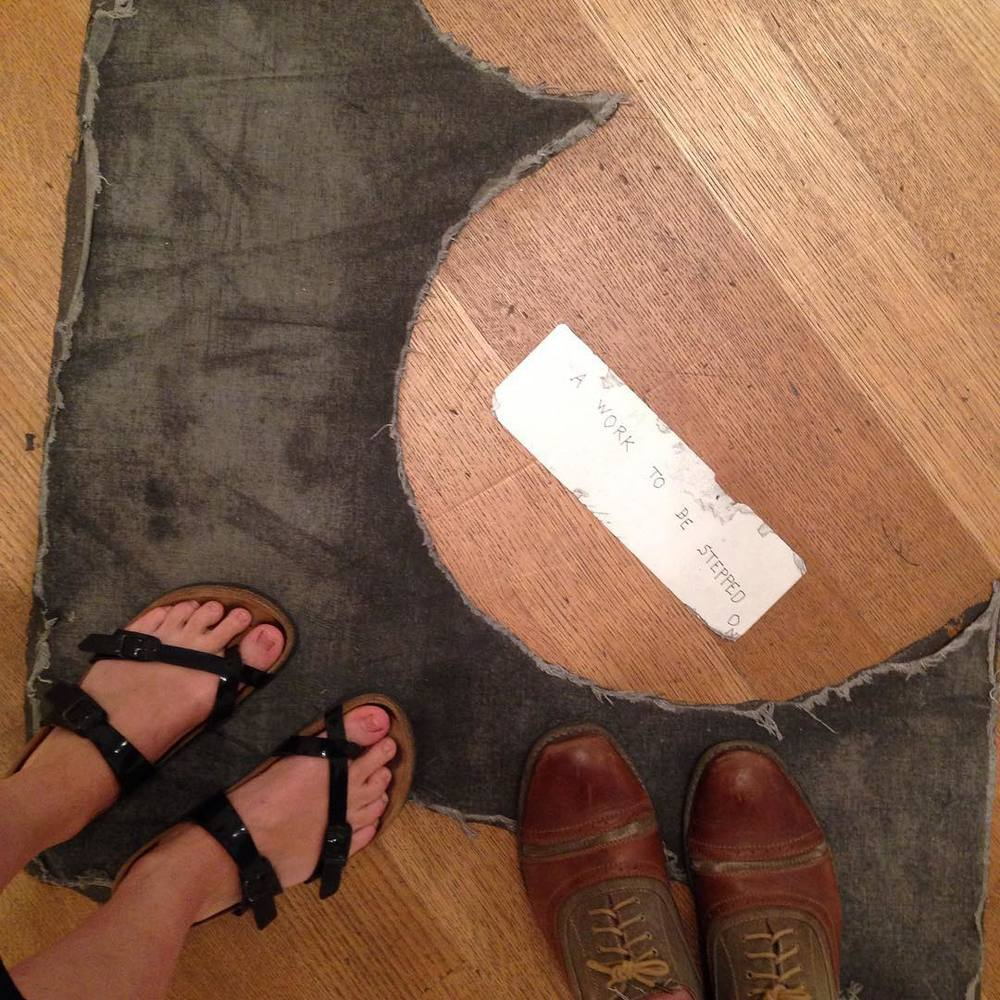 A work to be stepped on. #Ono (at MoMA The Museum of Modern Art)