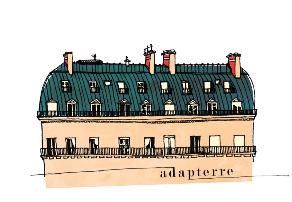 adapterre   |  blog header, commission. pen sketch, digital color. 2011.