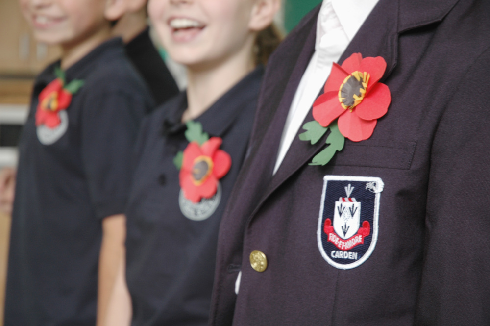 remembrance day poppy school project DIY