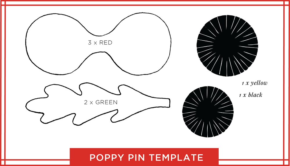 tutorial: a paper poppy pin for remembrance day — o c c a s i o n a ...