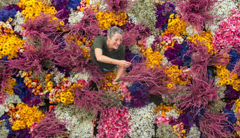 Preparations have begun for this year's Christmas garland at Cotehele!All flowers are grown, picked and dried on the Tudor property in Cornwall's Tamar Valley.   via