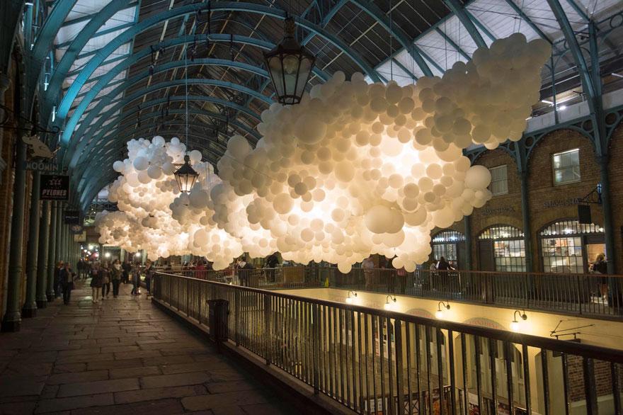 Charles Pétillon's Heartbeat in London's Covent Garden, September 2015 | via