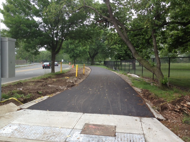 Nassau County's demonstration path in Eisenhower Park, along Salisbury Drive.  Photo Courtesy Michael Vitti.