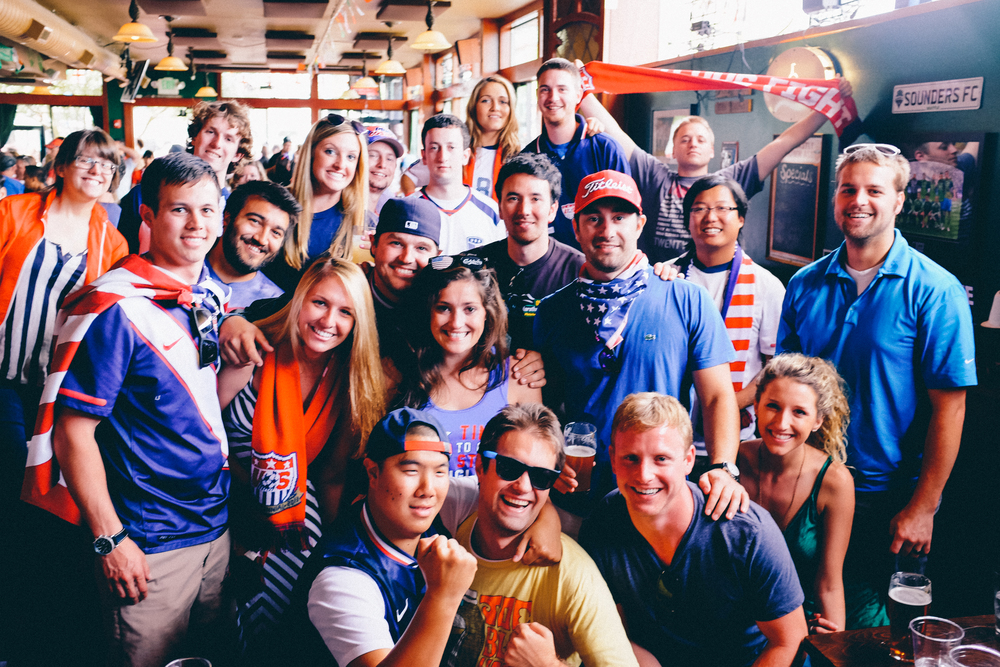 The Market Arms & Press Play Radio Team USA viewing party