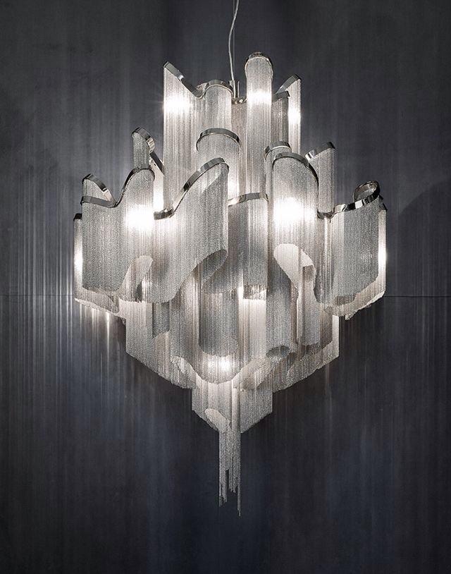 Terzani chain light fixture-really cool shadows.