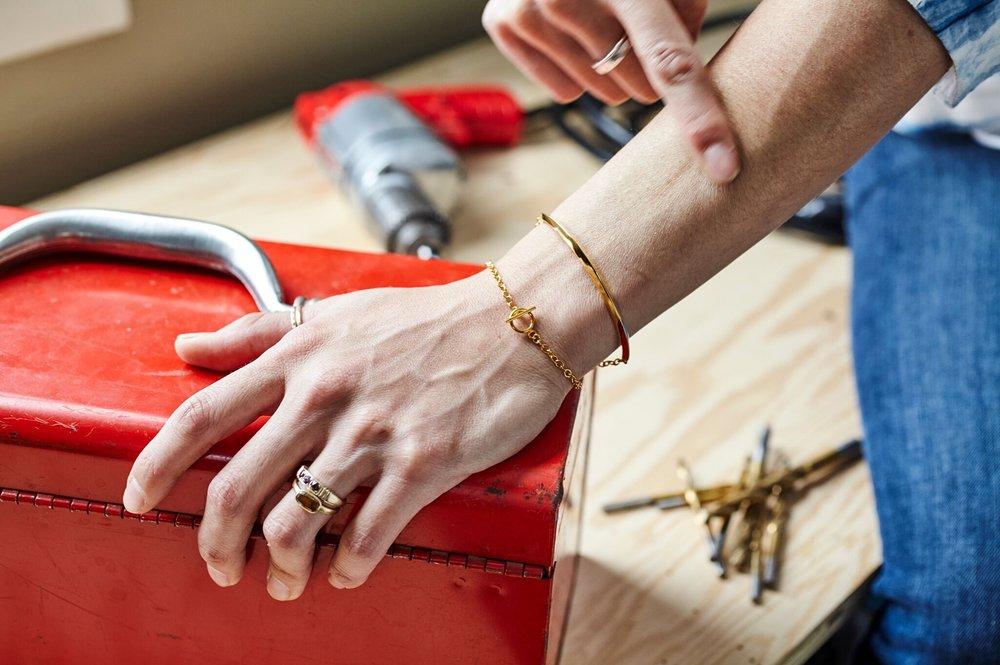 Peak bracelet on Jill Yee #agamemnonjewelry