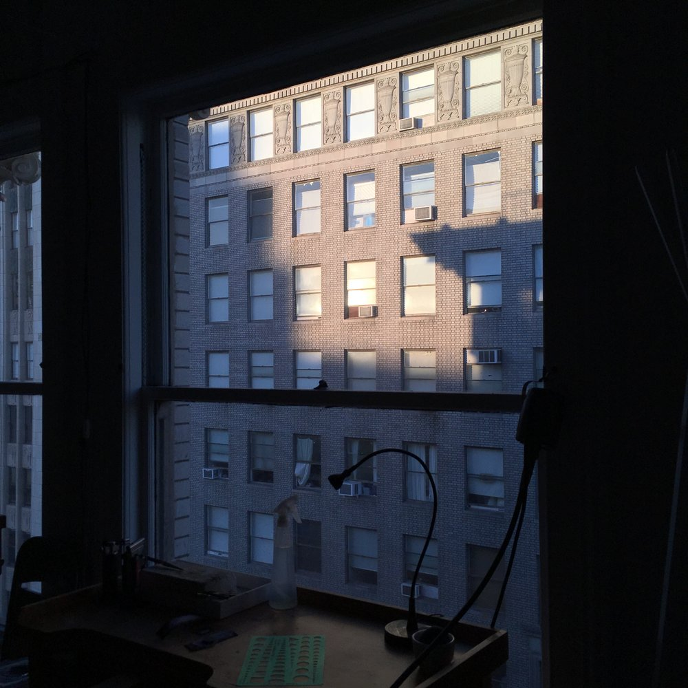 Wednesday: early evening at the studio