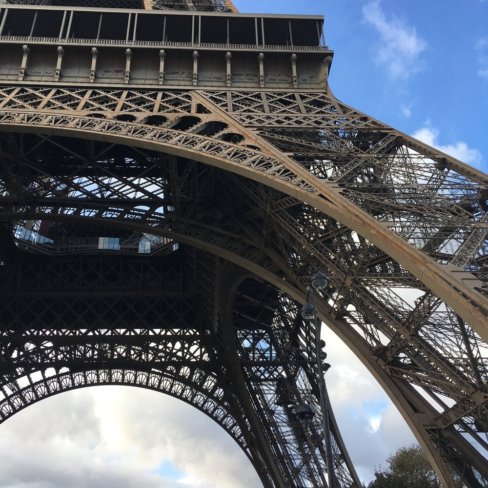 then we saw the details of the day at the Eiffel Tower. Seriously, the ornate filigree work on such a grand scale monument is cool to see in person. #metalsmithnerds