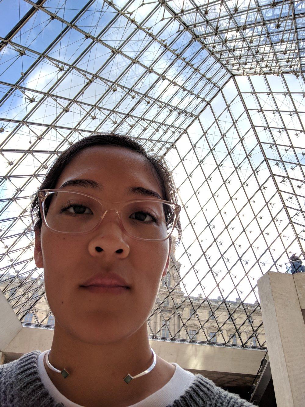 Under I.M. Pei's pyramid